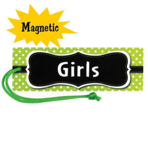 Lime Polka Dot Magnetic Girls Hall Pass