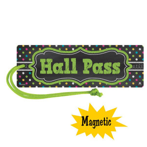 Chalkboard Brights Magnetic Hall Pass