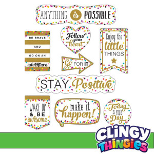 Confetti Positive Sayings Clingy Thingies Accents