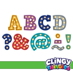 """Marquee Bold Block Clingy Thingies 1-3/4"""" Letters"""
