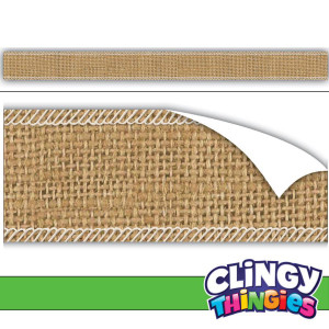 Burlap Clingy Thingies Borders