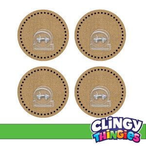 Burlap Clingy Thingies Clips