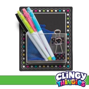 Chalkboard Brights Clingy Thingies Storage Pocket