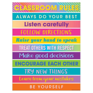 Colorful Vibes Classroom Rules Poster