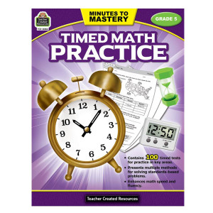 Timed Math Practice Book-Grade 5