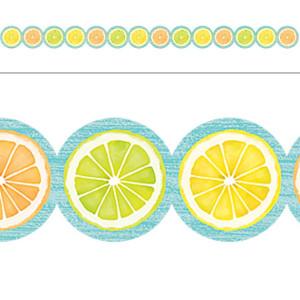 Lemon Zest Citrus Slices Border