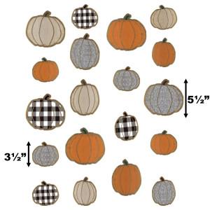 "Home Sweet Classroom Pumpkins 6"" Cut-Outs"