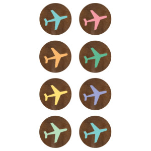 Travel the Map Airlines Mini Stickers