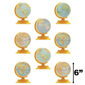 """Travel the Map Globes 6"""" Cut-Outs"""