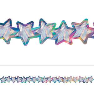 Iridescent Stars Die-Cut Border