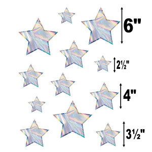 Iridescent Stars Assorted Cut-Outs
