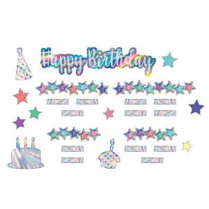 Iridescent Happy Birthday Mini Bulletin Board