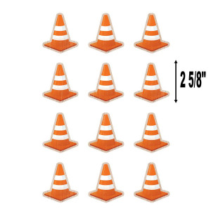 Under Construction Cones Mini Cut-Outs