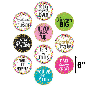 Confetti Positive Sayings Cut-Outs