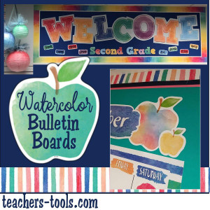*Watercolor Bulletin Boards