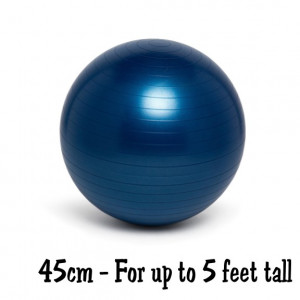 Blue 45cm No-Roll, Weighted Balance Ball