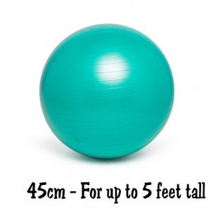 Teal Green 45cm No-Roll, Weighted Balance Ball