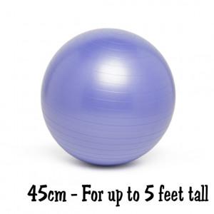 Purple 45cm No-Roll, Weighted Balance Ball