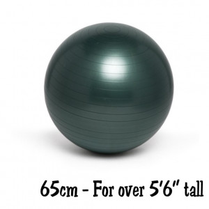 Gray 65cm No-Roll, Weighted Balance Ball