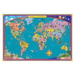 World Map- Illustrated Map