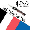 Bistro Chalk Marker Set- Classic Broad Tip 4 Pack