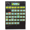 Black Deluxe Calendar Pocket Chart
