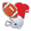 Football Assorted Cut-Outs