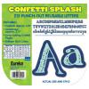 Confetti Splash Canvas Letters