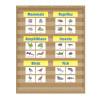 Burlap Pocket Chart-10 Pockets