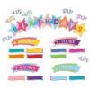 Colorful Vibes Happy Birthday Mini Bulletin Board