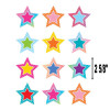 Colorful Vibes Stars Mini Cut-Outs