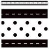 Black & White Stitch n Dots Border