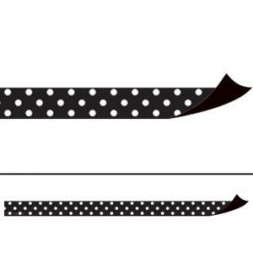 Black Polka Dots Magnetic Border Strips