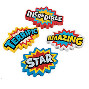 Superhero Erasers-12 Ct