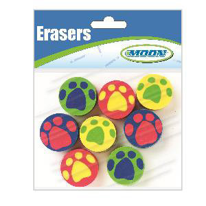 Pawprints Assorted Pencil Toppers-Bag of 8