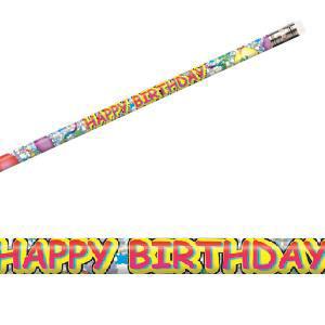 Happy Birthday Glitz Pencils-Bag of 12