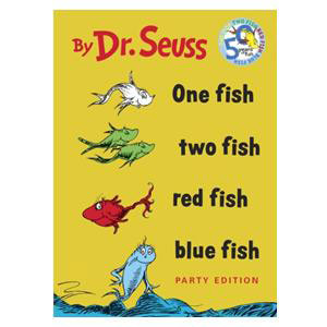 One Fish, Two Fish, Red Fish, Blue Fish Book-Seuss