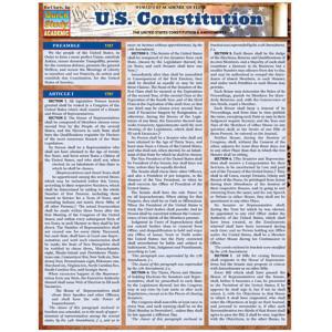 U.S. Constitution 3-Panel Laminated Guide