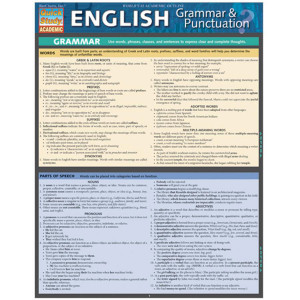 English Grammar & Punctuation 3-Panel Lam. Guide