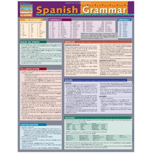 Spanish Grammar 3-Panel Laminated Guide