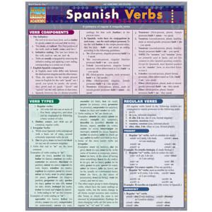 Spanish Verbs 3-Panel Laminated Guide