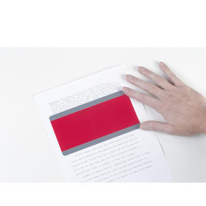 Red Reading Guide Paragraph Size