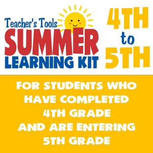 Summer Learning Kit-Between Grades 4 & 5