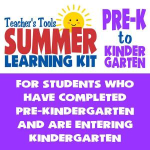 Summer Learning Kit-Between PreK & Kindergarten