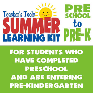 Summer Learning Kit-Between Preschool & Pre-K