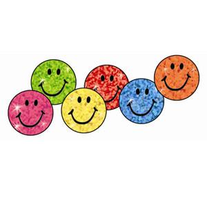 Colored Sparkle Smile Incentive Stickers