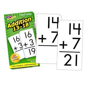 Addition 13-18 Flash Cards
