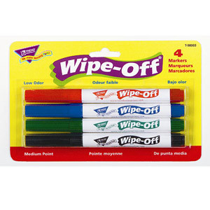 Wipe-Off Markers-4 Pack