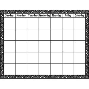 Black & White Circles Calendar Poster