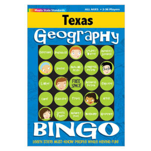 Texas Geography Bingo Game